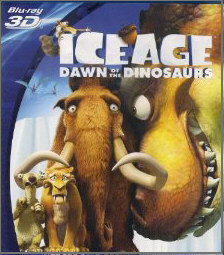 Ice Age 3D Blu-ray Dawn of the Dinosaurs Field sequential 3D